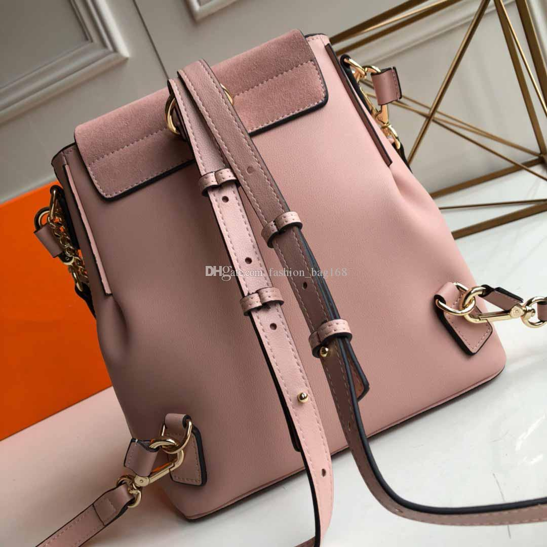 2019 New Fashion Backpack Women Designer Backpack Strap Shoulder Travel Shopping Bag Big Ring Schoolbag leather Mini Backpack Women Handbags
