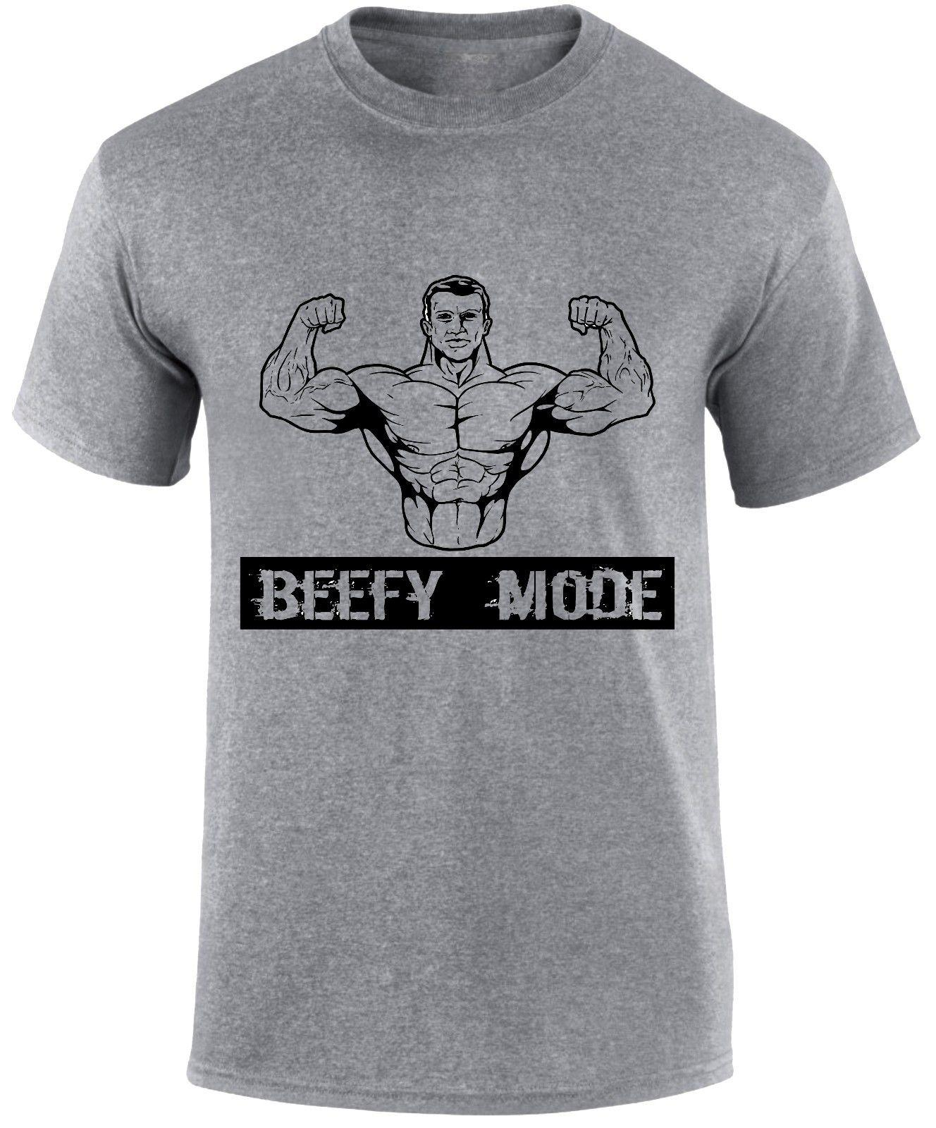 exclusive shoes exceptional range of styles and colors top-rated newest Beefy Mode Muscle Body Builder Printed Gym Workout Slogan Weight Lift T  Shirt Band T Shirts T Shirt Designs From Oldshop77, &Price;  DHgate.Com