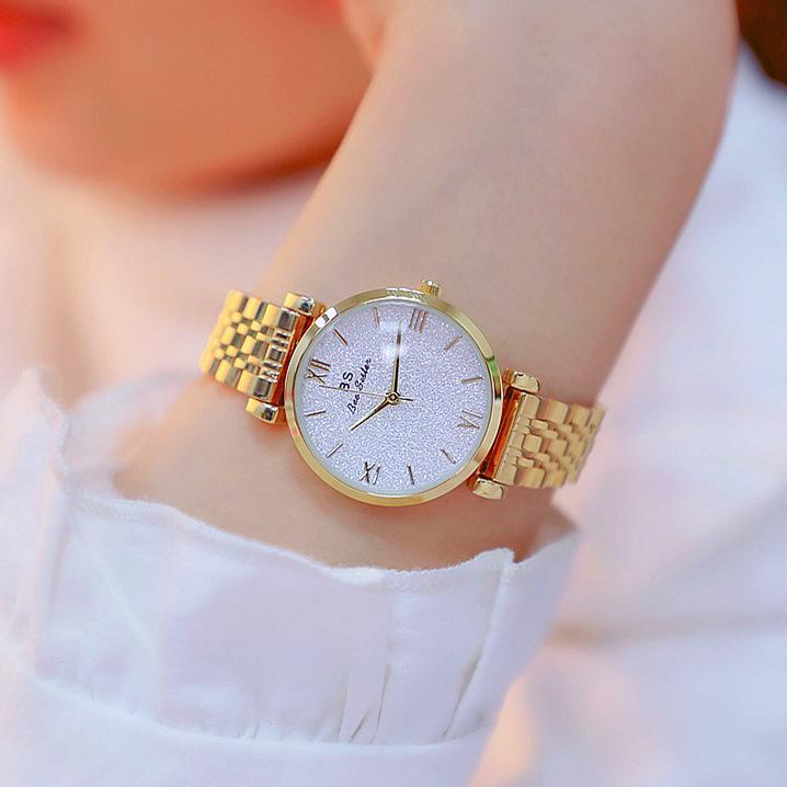 New Hot vente Watch Factory Direct Commerce extérieur haut de gamme liés Liste personnalisée solide ceinture des femmes montre en acier