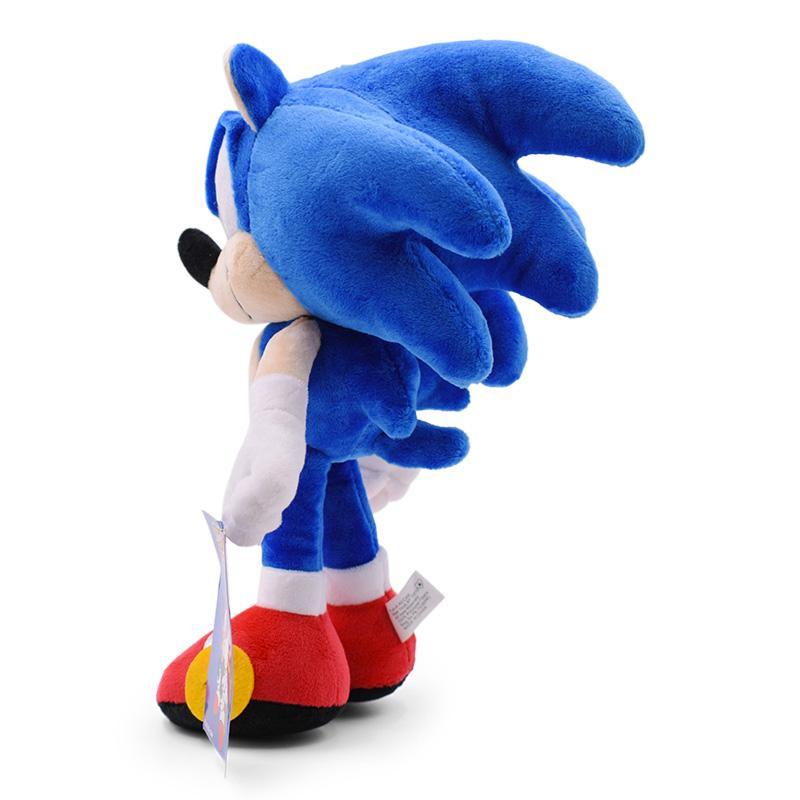 6styles Sonic Peluche Spielzeug, Schwarz, Blau und Rot Sonic Plüschspielzeug Soft Gefüllte Puppe-Baby-Geschenk für Kinder Weihnachten