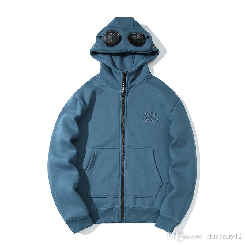 رجل إمرأة هوديس معطف 19SS CP شركة الأزياء القمم سترة كم طويل الشتاء للمرأة ذكر الآسيوي الحجم M-2XL