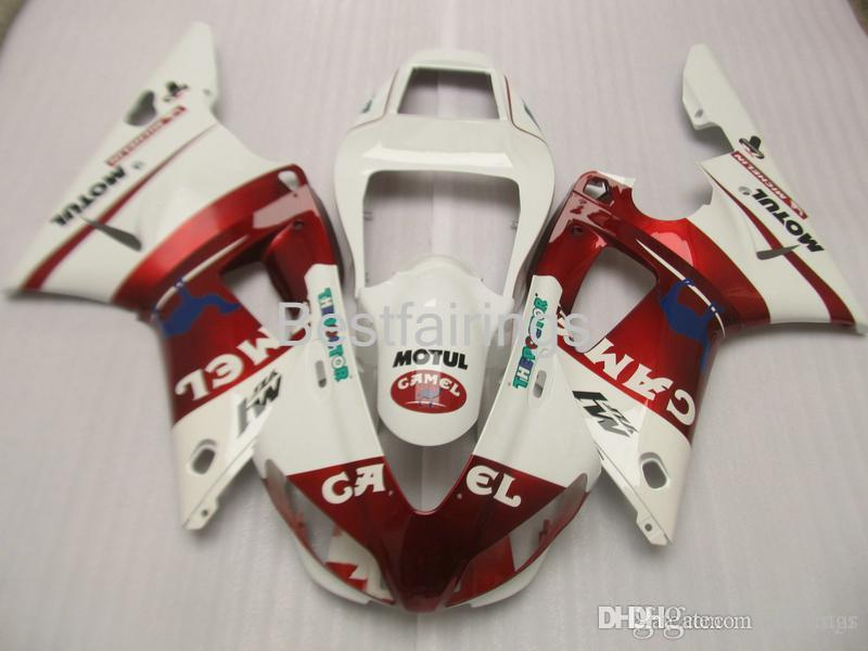 ZXMOTOR Free custom fairing kit for YAMAHA R1 1998 1999 red white fairings YZF R1 98 99 HG25