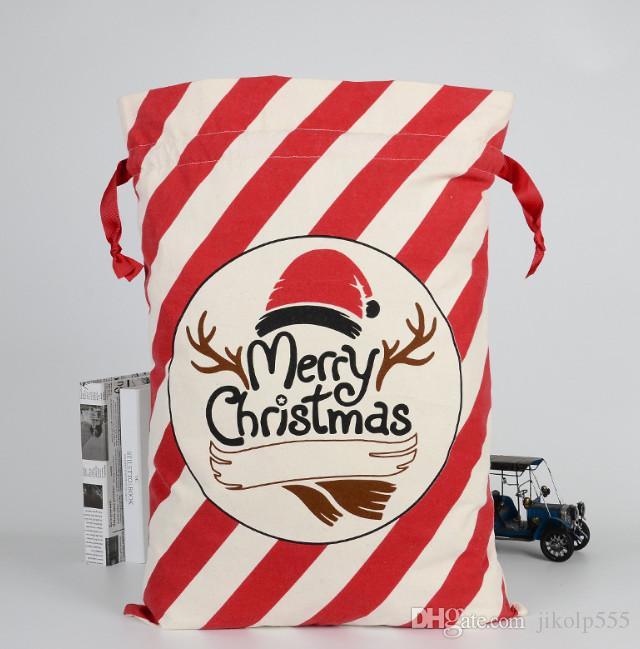 La dernière 50x70cm nouveau 20 le style des sacs-cadeaux de Noël des bonbons de Noël coton sac de Noël logo support Livraison gratuite sur mesure