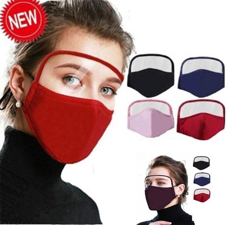 Máscara novo protetor facial 7 Cores Filtro Anti Poeira máscara completa Proteção Rosto Anti Fog lavável face Boca de protecção de design Máscara de 6078