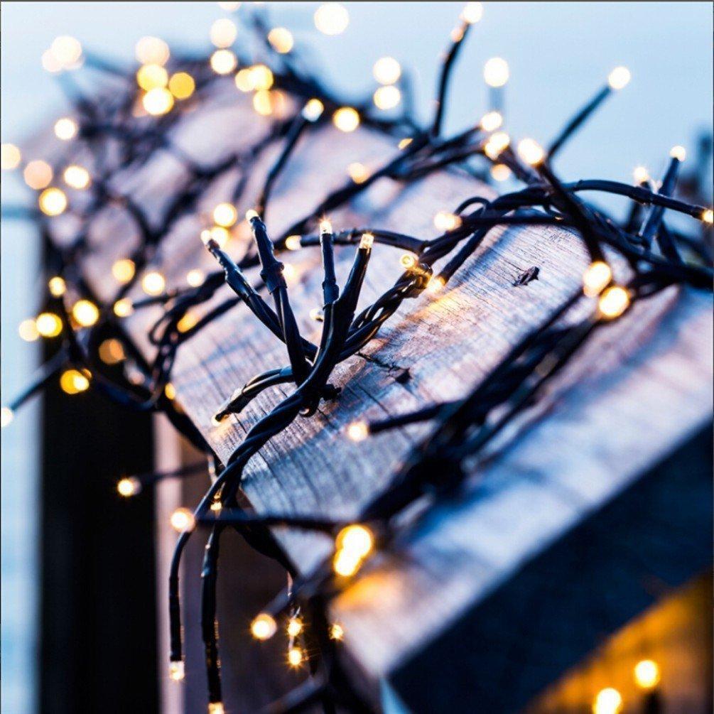 8 Modi 200 LED-Solarschnur-Lichter 72ft Solar-Fee-Schnur-Licht Ambiance Beleuchtung Dekoration für Weihnachtsbaum-Partei-Garten-Lampe