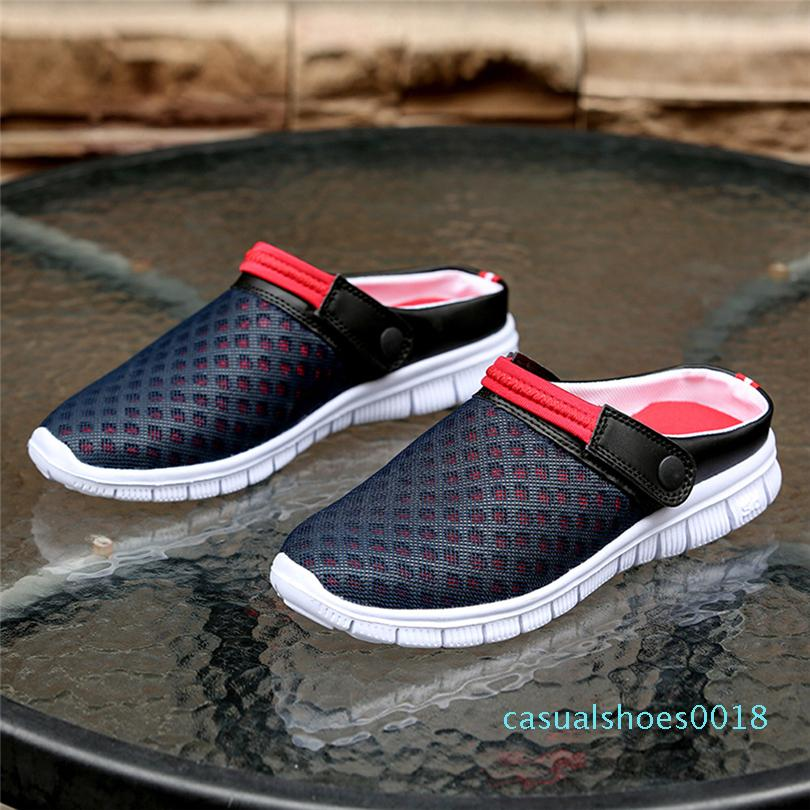 SIKETU Men Women Summer Sandal Mesh Breathable Padded Beach Flip Flops Shoes Hollow Out Women Shoes Sandals Rain Water A30 C18