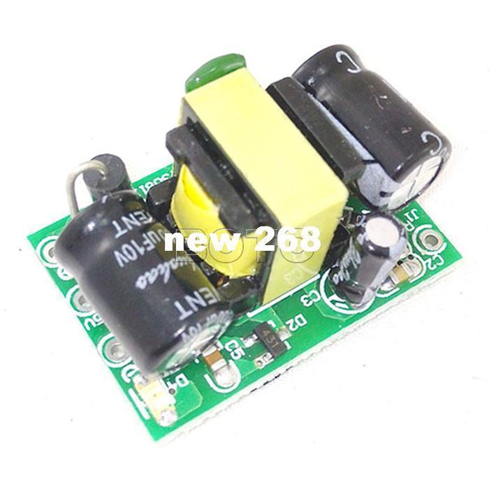 Freeshipping 20 pcs 90V~240V to 5V AC/DC Converter Switch Power Supply Module 3W 700mA Industrial Voltage Regulators 220V to 5V/12V #210005
