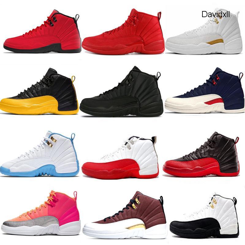 Neue 12 12s Basketball-Schuhe Männer Winterized Wntr Gym rot weiß Flu Spiel Royal Ball Hot Punch-Universität Goldblau-Schuhgröße 7-13