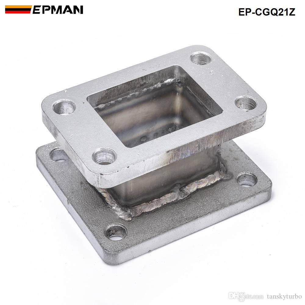 EPMAN Racing Universal Cast Iron T3 to T4 Turbo Charger Turbo Manifold Flange Adapter Conversion EP-CGQ21Z