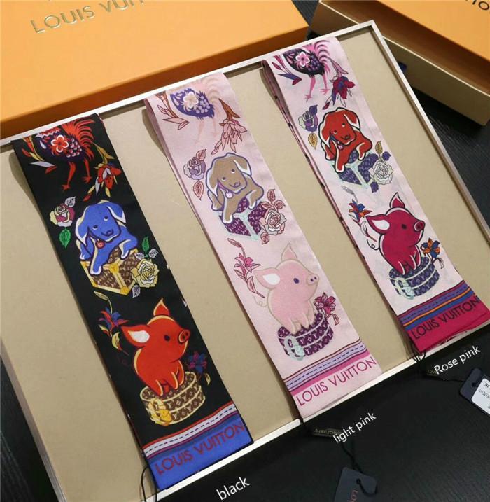 bolso de la manera bufanda de seda cruzada banda decorativa bufanda de seda de banda para el cabello de hombres y mujeres de 2019 la última bufanda de seda