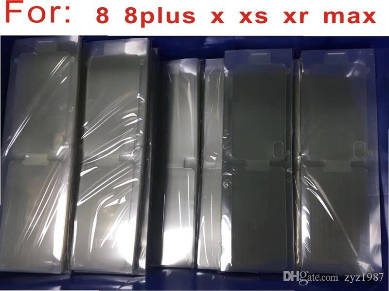 100pcs / lot Plastic Seal Factory Pellicola proteggi schermo per nuovo telefono cellulare per iPhone 7 7p'lu 8 8plus X XS MAX XR