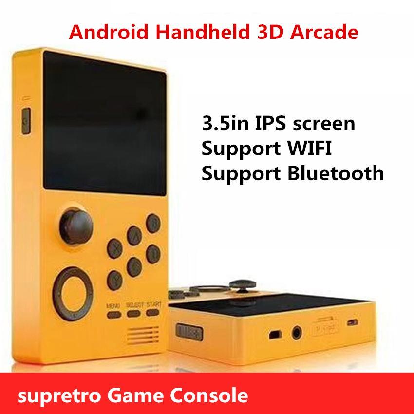 SUPRETRO Android-Handheld 3D-Arcade-Wireless-Player Retro Spiele Moonlight Treasure Box Nostalgische Spielkonsole IPS-Bildschirm, Wifi und Bluetooth