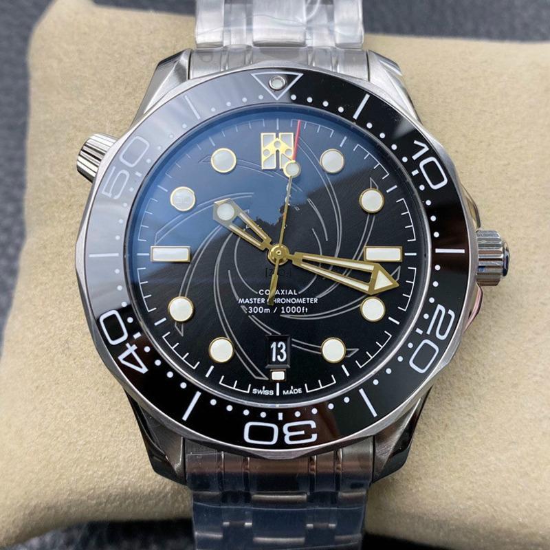Top Luxury Mens часы для мужчин Профессиональный Sea Diver Watch автоподзаводом 42мм Керамические ободок Мастер водонепроницаемые часы
