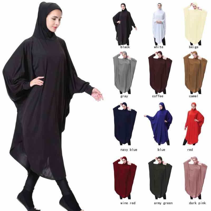 2020 Islamic Khimar Clothes Muslim Black Face Cover Niqab Burqa Bonnet Long Hijab Loop Scarf Women Headscarf Abaya Robes Kimono Arab From Bearlittle 20 79 Dhgate Com