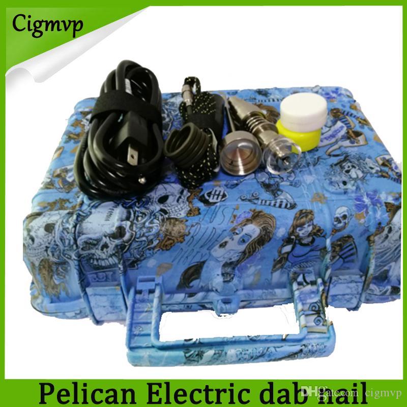 Hot Sale E Nail Pelican eléctrico ENAIL uñas controlador PID cera cuadro de TC con 10mm / 16mm / 20mm domeless bobina del calentador dnail