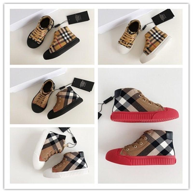 2020 мода горячие дети BBR дизайнеры повседневные кроссовки мальчики девочки малыш бренд письмо шаблон Детская обувь тренеры размер 26-35 0000