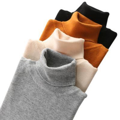 Cachemire mélange de coton à col roulé Hommes Pull 2020 Automne Hiver Vêtements Hommes Pull Homme Pull SWETER Ropa Hiver Hombre Jumper