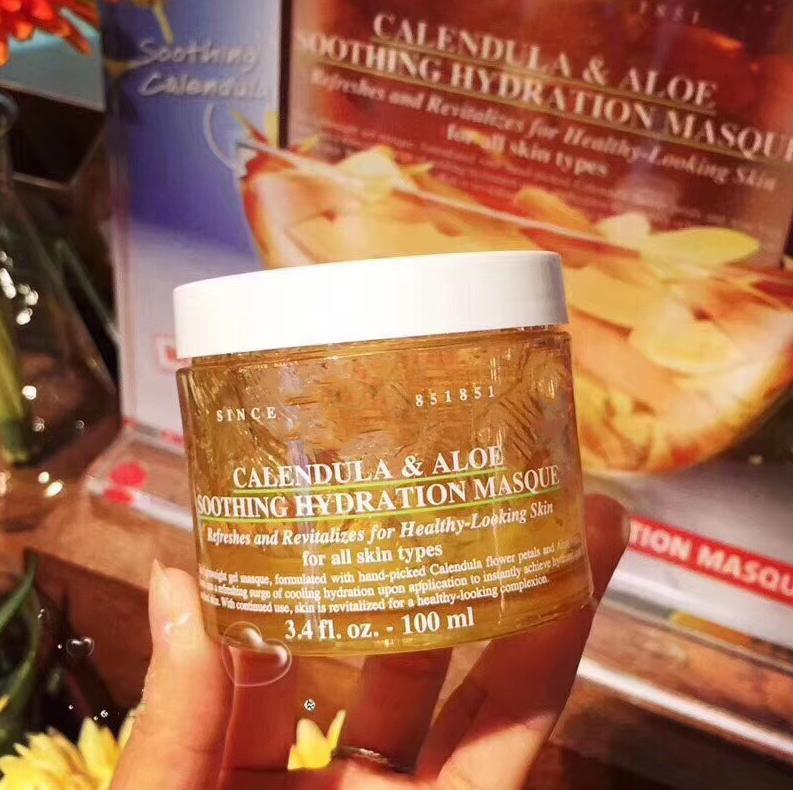 Disponibile Calendula Aloe Soothing Hydration Masque 100ml Calendula Maschera Face Foe Tutti i tipi di pelle Tipi di pelle Cura della pelle Cura della pelle Lozione DHL Libera nave