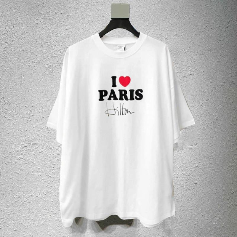 France Rue Tide Marque Vetements Mens Designer T-shirt manches courtes en été VTM Wittmeng 2020 New High Street Style décontracté en vrac