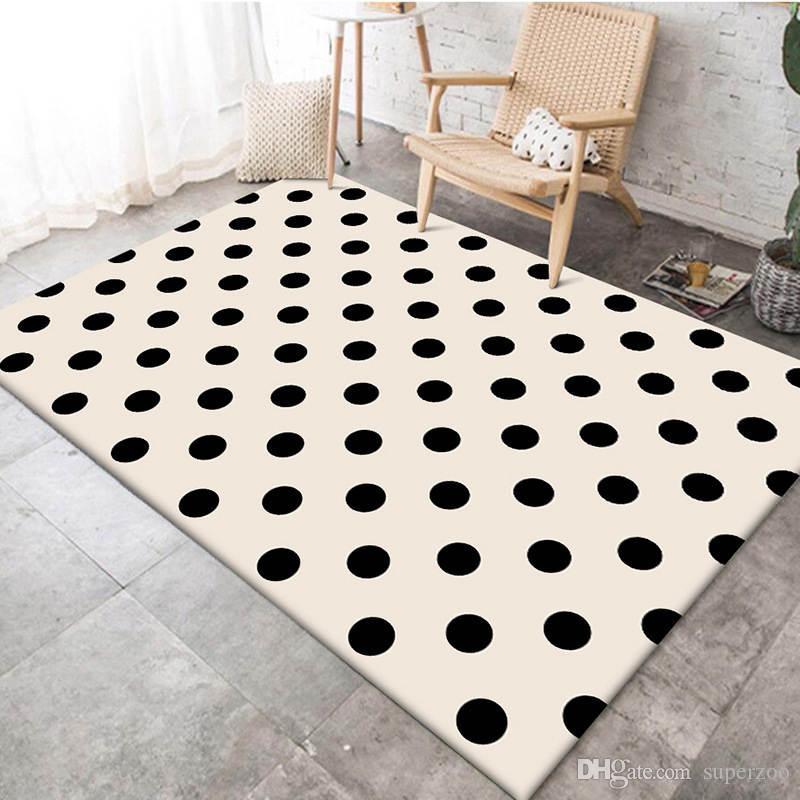 Tapis souples modernes Salon Plancher Chambre déco Tapis Grand tapis décoratif Tapis Maison Plancher Paillasson Décoration 015