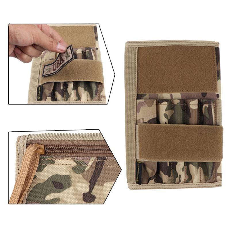 Tácticos al aire libre caja de lápiz de la bolsa táctica de caza Bolsas correa de cintura del paquete del bolso del teléfono celular portátil Camo Bolsa
