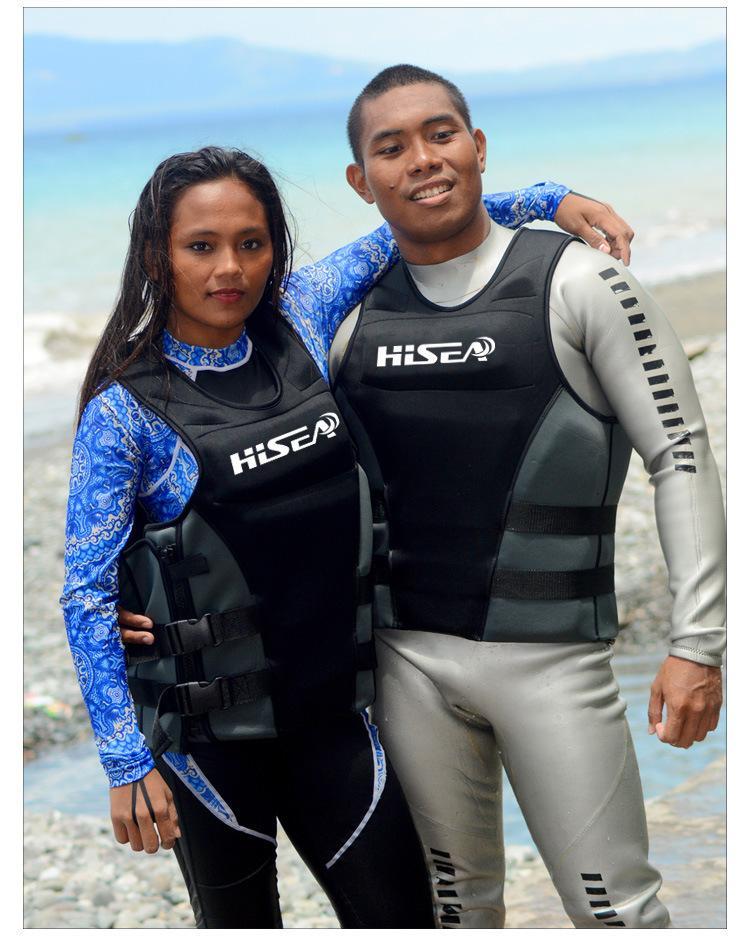 Neopren Meslek Can yeleği Erkekler Kadınlar Can Yeleği Buoyancy Lifejacket Balıkçılık Sörf Can yeleği Yüzme Yüzer Bezi