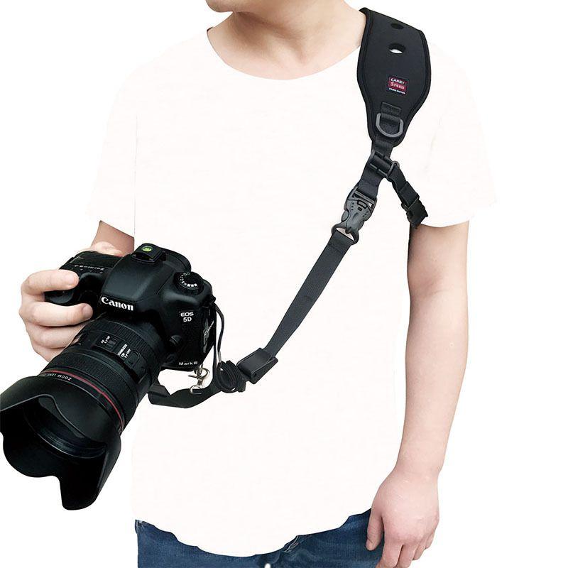 Camera Single Shoulder Neck Strap Quick Release Anti-Slip Soft Pad Nylon Sling Belt Strap for DSLR Digital SLR Camera high quality