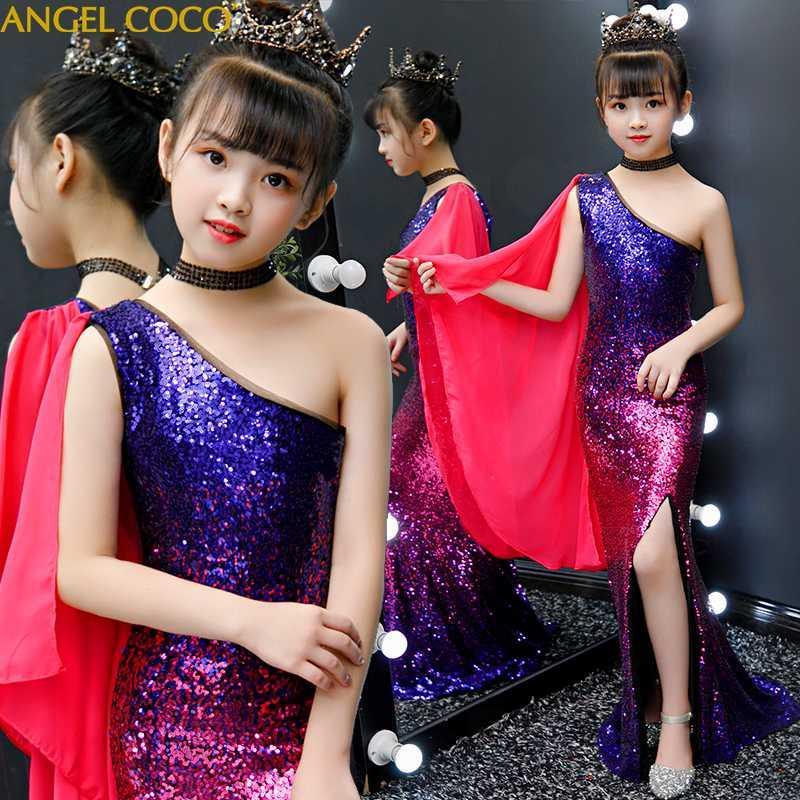 Biçimsel Kız Elbise güzellik yarışması Prenses Elbise Çocuk Elbise İçin Kız Kostüm Düğün Gelinlik Önlük Çocuk Giyim 2020