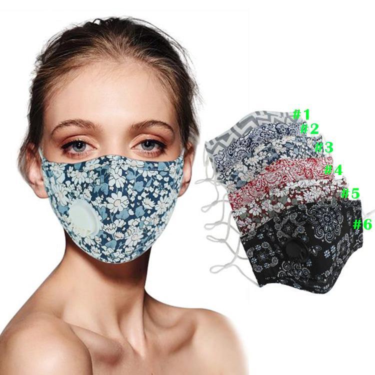 Nuovo lavabili riutilizzabili mascherina mascherine cotone viso unisex con il fiato della valvola anti-polvere Tessuto DHB65