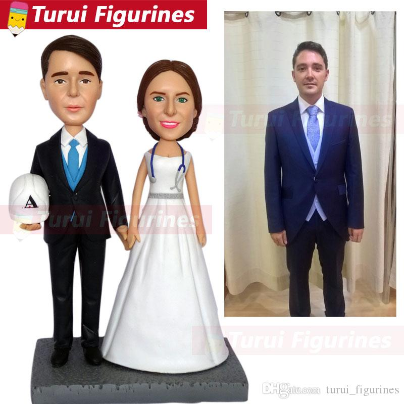 statuette from pictures for couple wedding celebration cake topper engineer figurines mini statue photos to figurines dolls gift
