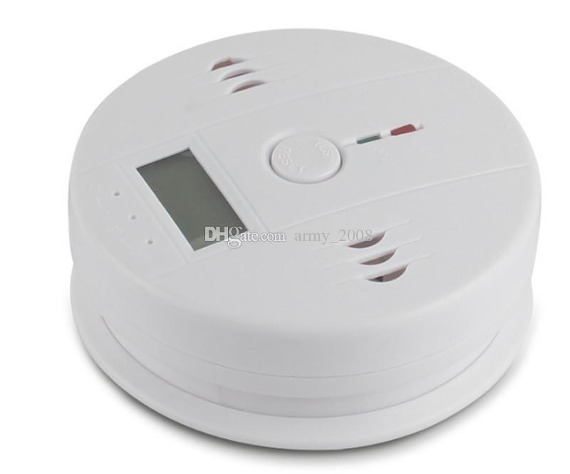 Co أول أكسيد الكربون تستر إنذار تحذير الاستشعار الكاشف كاشفات التسمم النار الغاز شاشة lcd الأمن مراقبة المنزل إنذار السلامة