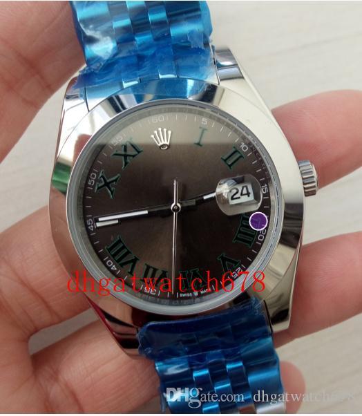 Ausgezeichnete Qualitäts-Armbanduhren Herren-Uhr Brown Dial Roman Dial 116234 Series Edelstahl 41mm kannelierte Lünette automatische Art und Weise Men