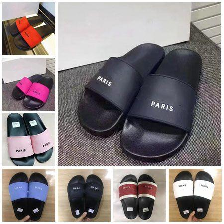 Terlik Sandalet Slaytlar İyi Kalitede Sandalet Tasarımcı Ayakkabı Terlik Huaraches Adam / Kadın İçin Çevirme Loafer'lar Beden: 35-45