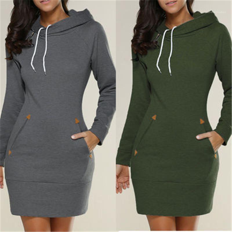 Vestido de malha Mulheres Moda Inverno malha hoodies Turtleneck Casual Camisolas Vestidos Jumper Pull shirt Femme Designer Long Sleeve