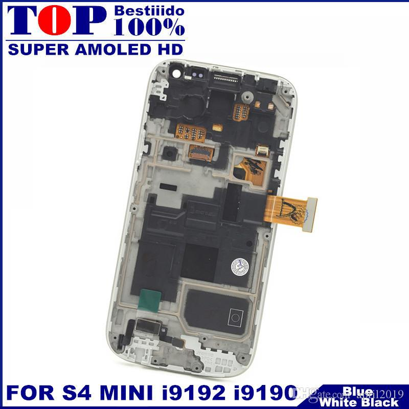 For Samsung Galaxy S4 Mini I9190 i9192 i9195 Phones LCD Display Touch Screen Digitizer Replacement with Frame AMOLED HD LCDS