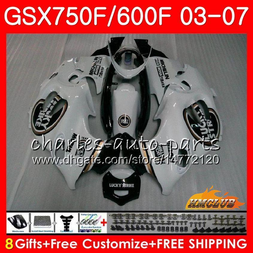 鈴木カタナGSXF600 GSXF750 03 04 05 06 07 3HC.40 GSX750FラッキーブラックGSX600F GSXF 750 2003 2004 2006 2007フェアリング