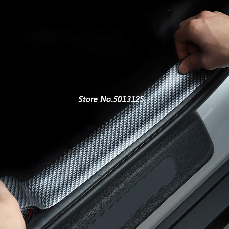 자동차 도어 가드 범퍼 탄소 섬유 고무 스타일링 문 창턱 수호자 자동차 stylings가 들어 기아 Seltos 2019 2020 액세서리