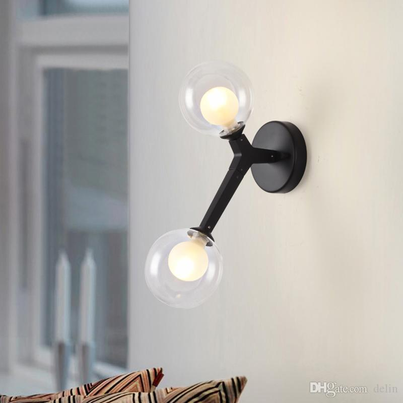 2019 Nordic Modern Wall Lamps Sconces Black/Gold Decorative Night Light For  Pathway Staircase Bedroom Bedside Lamp G9 From Delin, $99.3 | DHgate.Com