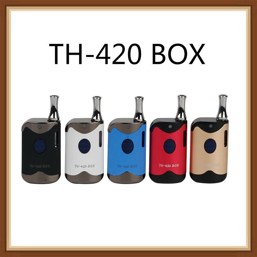 Autentico kit di avviamento TH420 Kangvape con batteria da 650 mAh TH-420 BOX Box mod Vape per cartuccia di olio spessa da 1.2ohm Atomizzatore 100% originale