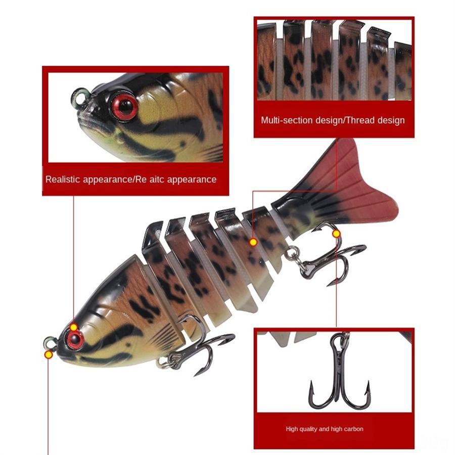 LBOdt Angelköder 12CM Kit Set Topwater Crankbait VIB Köder, Swimbait Fischen der 13.8Gfor Salzwasser Süßwasser Bass Trout Walleye Sal