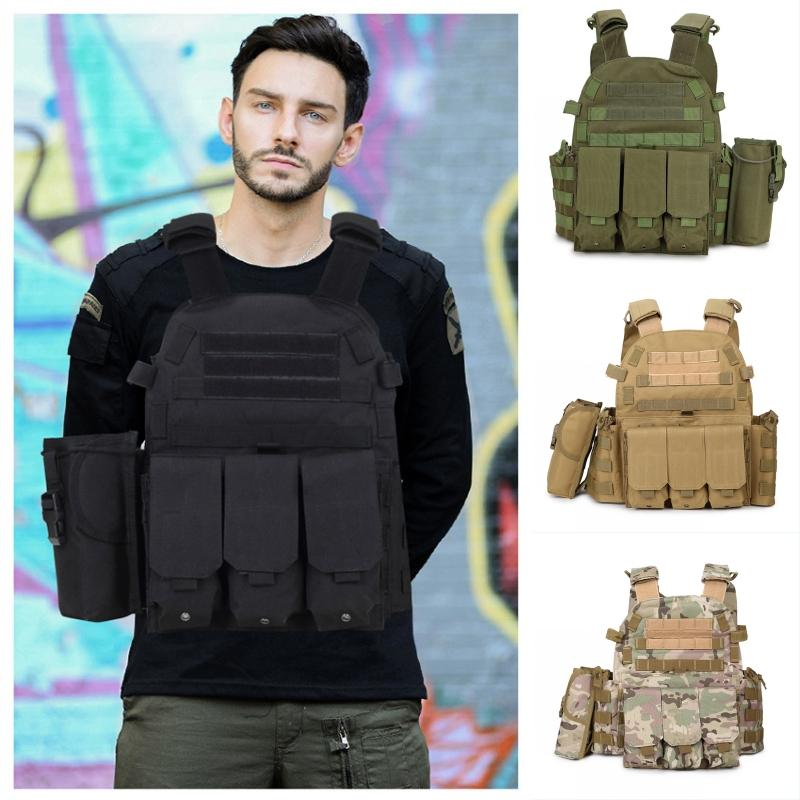 4 Colors Army Jacket Amphibious Vests Combat Tactical Vest CS Equipment Multipurpose Camouflage Vest Outdoor Fishing Hunting Clothing M119F