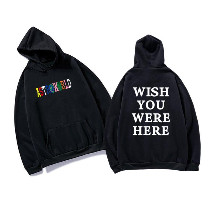 Rapper Travis Scott Astroworld Pullover Mode Brief DruckHoodie Street Mann und Frau Beiläufige Sweater
