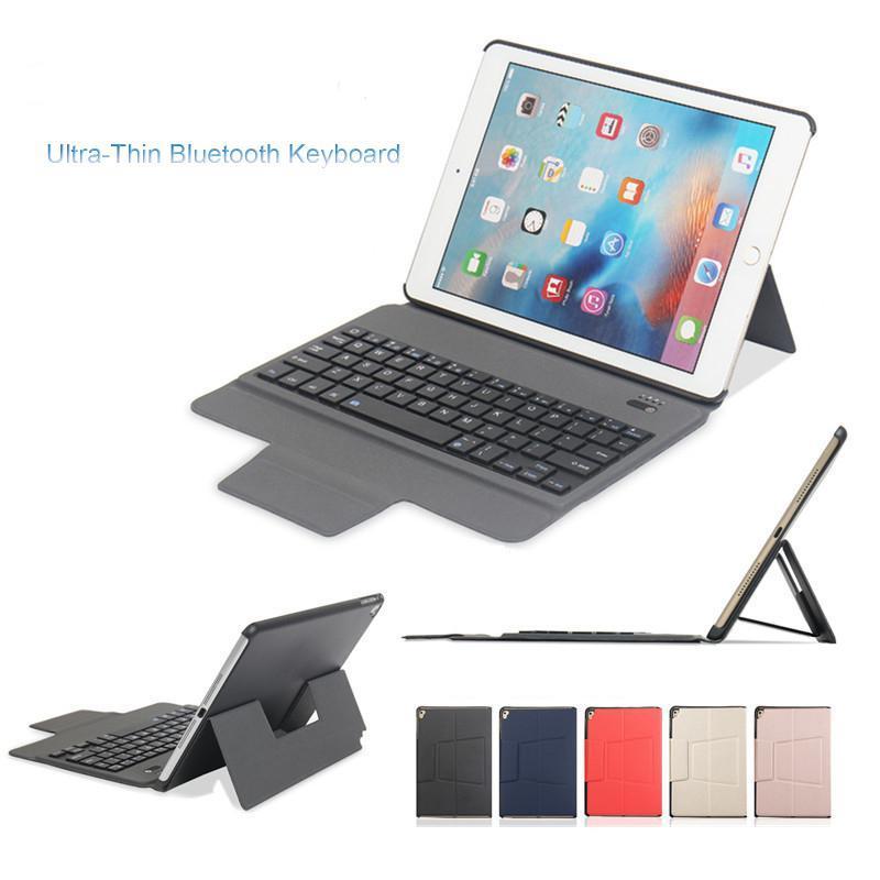 Ультра-тонкий беспроводная Bluetooth-клавиатура кожаный чехол для IPad Для 2017/2018 Pro 9,7 10,5 Air1 / 2 Mini1 / 2/3/4