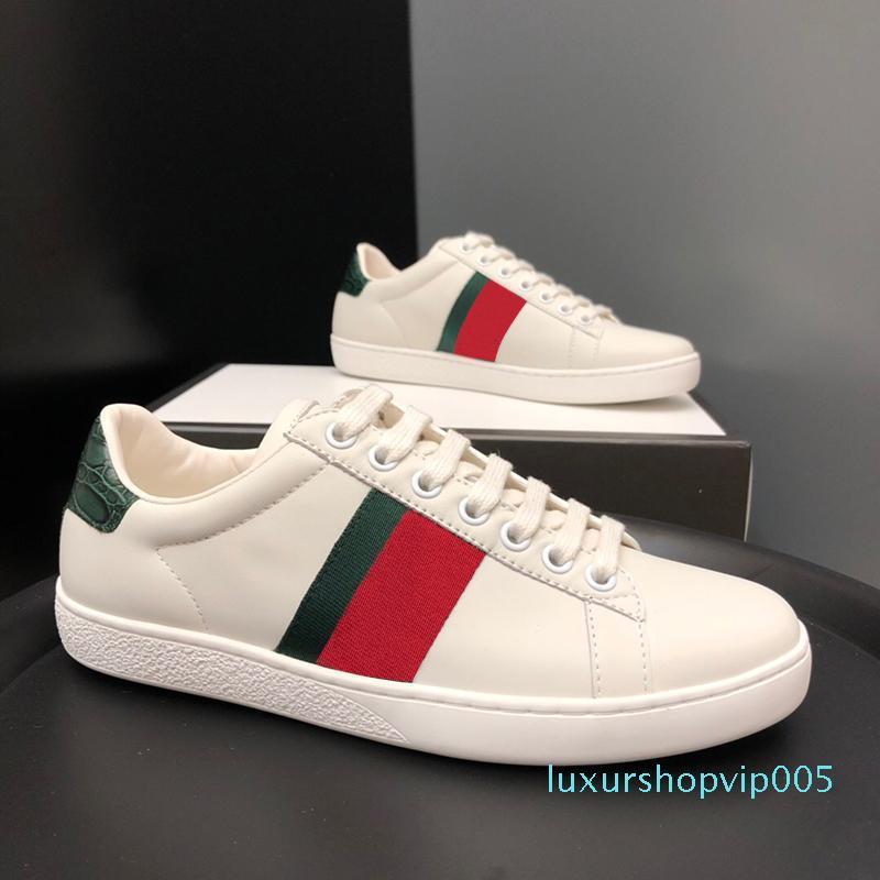 Tasarımcı ayakkabı ACE Lüks işlemeli beyaz kaplan arı yılan ayakkabılar Gerçek Deri Tasarımcı Sneaker Erkek Kadın Günlük Ayakkabılar T05