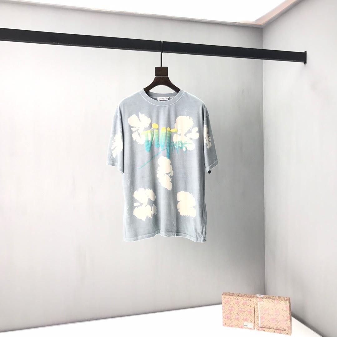 2020ss primavera y el nuevo algodón de alto grado del verano impresión de manga corta M-L-XL-XXL-XXXL blanco y negro en color Tamaño del panel redonda del cuello de la camiseta