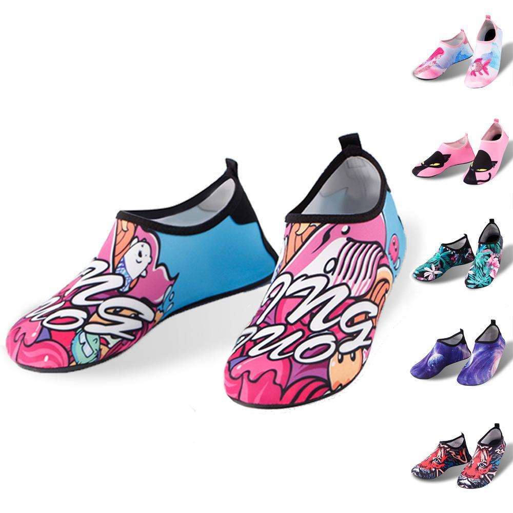 Calzado de buceo Zapatos de playa de deportes Tela suave Cinco puntiagudo Suela de goma adultos Chicos y niñas Calcetines de buceo Wading Calcetines