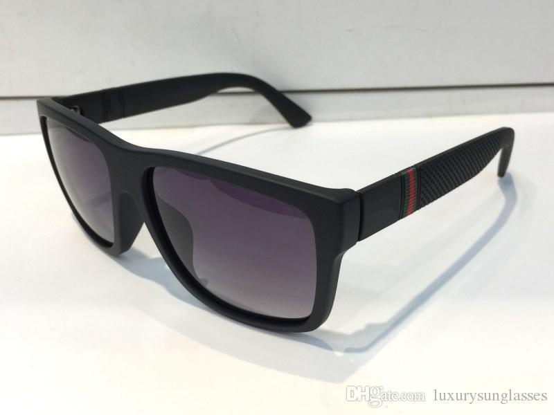 Gafas de sol de lujo 1124S para los hombres de diseño de moda 1124 marco de las gafas de sol gafas de sol de la plaza Capa de la lente de fibra de carbono con el caso de Verano Estilo