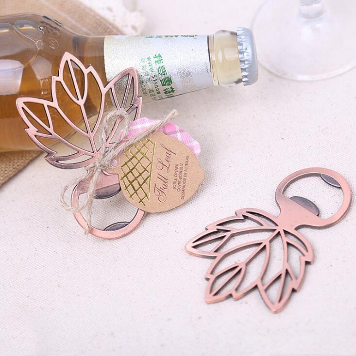 Bouteille Maple Leaf bière ouvre cuivre bouteille de feuille ouvreur de souvenir de mariage ouvreurs faveurs de mariage cadeau Giveaways XD23230