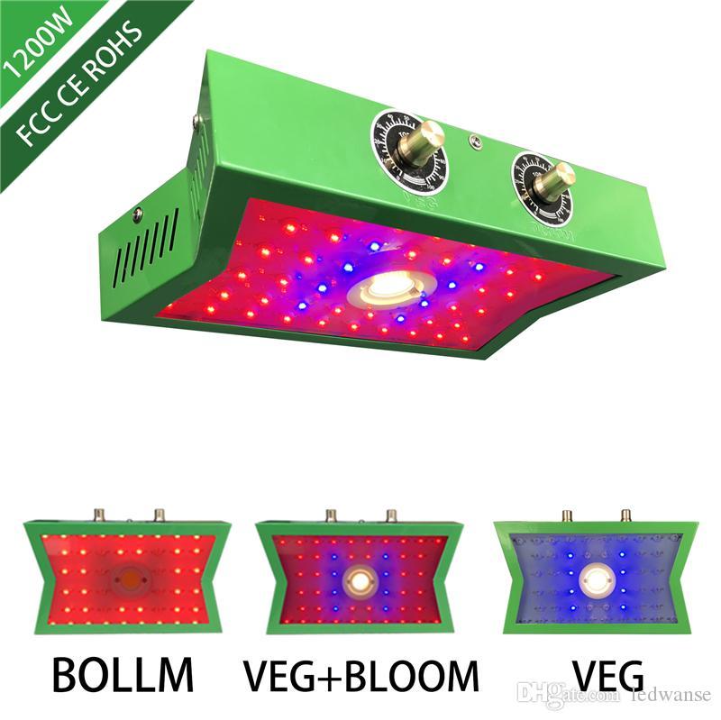 البوليفيين بقيادة النمو ضوء 1200 واط قابل للتعديل الخضار بلوم التبديل طيف كامل أدى أضواء تنمو لشتلات زهرة داخلي