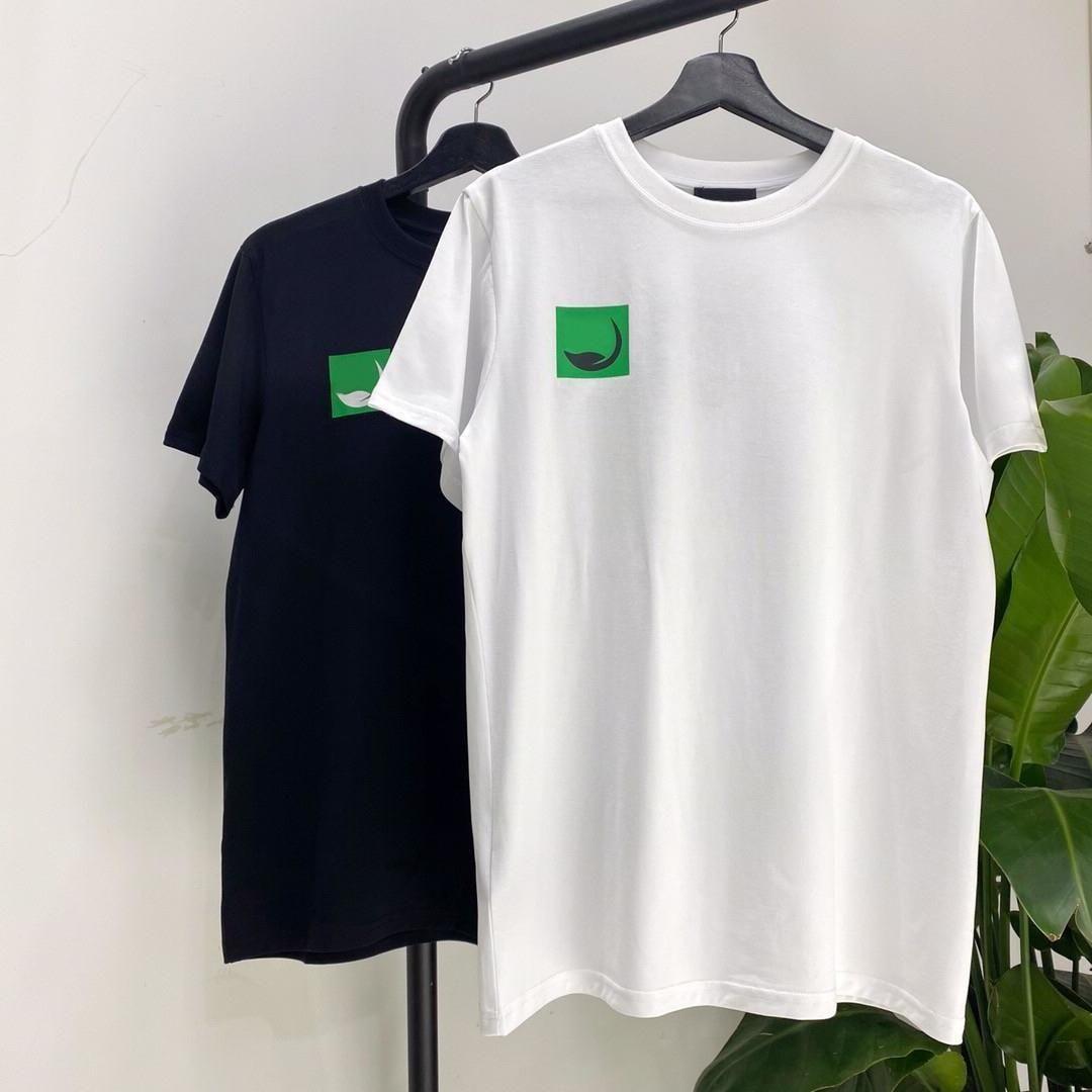 Respetuoso del medio ambiente camiseta verde de impresión camiseta de manga corta manera ocasional pantalones cortos de algodón para hombre y diseñador de las mujeres camiseta de los pares HFXHTX051